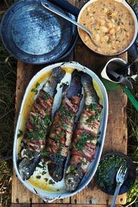 Grilled Trout Wrapped In #Bacon- S - 300 Delicious Bacon Recipes - RecipePin.com