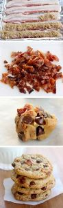 Candied Bacon Chocolate Chip Cooki - 300 Delicious Bacon Recipes - RecipePin.com