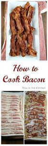 How to Bacon in the Oven. Easy Met - 300 Delicious Bacon Recipes - RecipePin.com