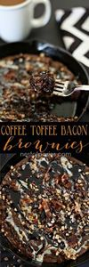 #Coffee #Toffee #Bacon Brownies. M - 300 Delicious Bacon Recipes - RecipePin.com