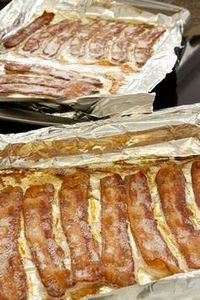 #Bacon in a pan and cooked to perf - 300 Delicious Bacon Recipes - RecipePin.com