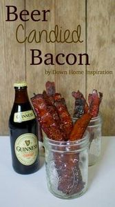 Beer Candied Bacon - Down Home Ins - 300 Delicious Bacon Recipes - RecipePin.com