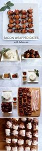 #Bacon Wrapped Dates Stuffed with  - 300 Delicious Bacon Recipes - RecipePin.com
