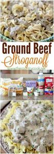 Ground Beef Stroganoff recipe from - 275 Beef Recipes - RecipePin.com
