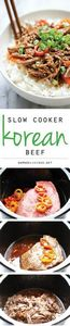 Slow Cooker Korean Beef - Amazingl - 275 Beef Recipes - RecipePin.com