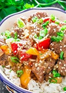 Slow Cooker Beef and Bell Peppers  - 275 Beef Recipes - RecipePin.com