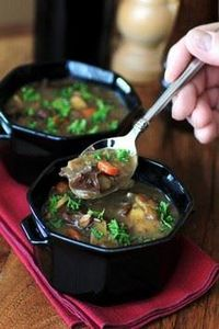 Beef, Wine and Mushroom Soup for # - 275 Beef Recipes - RecipePin.com