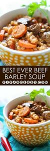 Best EVER Beef and Barley Soup | L - 275 Beef Recipes - RecipePin.com