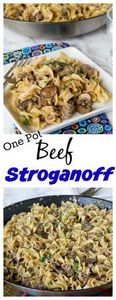 One Pot Beef Stroganoff – all the  - 275 Beef Recipes - RecipePin.com