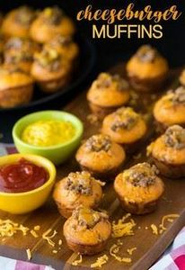 Cheeseburger Muffins - Your family - 275 Beef Recipes - RecipePin.com