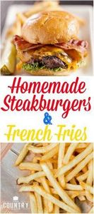 Homemade Diner Style Steakburgers  - 275 Beef Recipes - RecipePin.com
