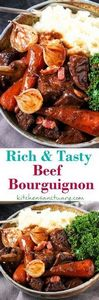 Comforting Beef Bourguignon in a d - 275 Beef Recipes - RecipePin.com