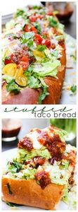Stuffed Taco Bread #YesYouCAN #spo - 275 Beef Recipes - RecipePin.com