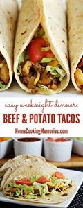 This Beef & Potato Tacos recip - 275 Beef Recipes - RecipePin.com