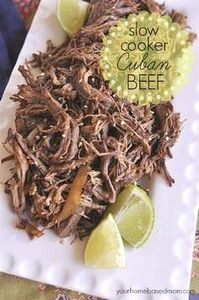 Slow Cooker Cuban Shredded Beef Ta - 275 Beef Recipes - RecipePin.com