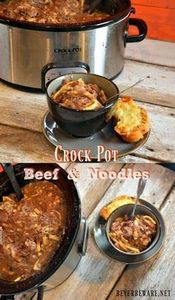 A creamy slow cooked crock pot bee - 275 Beef Recipes - RecipePin.com