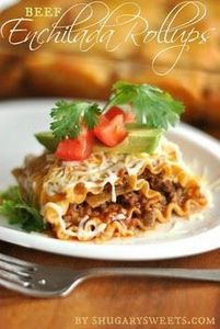 Enchilada Beef Rollups: a deliciou - 275 Beef Recipes - RecipePin.com