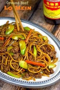 Ground Beef Lo Mein | bakeatmidnit - 275 Beef Recipes - RecipePin.com