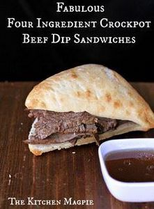 Four ingredient crockpot beef dips - 275 Beef Recipes - RecipePin.com