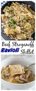 This beef stroganoff ravioli skill - 275 Beef Recipes - RecipePin.com
