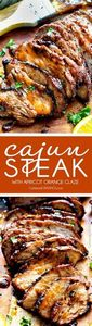 Grilled Cajun Steak with Sweet Ora - 275 Beef Recipes - RecipePin.com