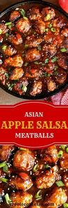 Asian Apple Salsa Meatballs -Creol - 275 Beef Recipes - RecipePin.com
