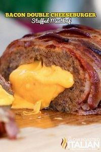 Bacon Double Cheeseburger Stuffed  - 275 Beef Recipes - RecipePin.com