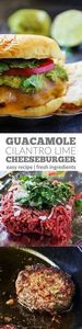 Guacamole Cilantro Lime Cheeseburg - 275 Beef Recipes - RecipePin.com