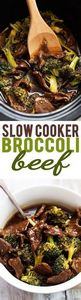 Slow Cooker Broccoli Beef | Creme  - 275 Beef Recipes - RecipePin.com
