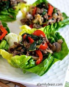 Moo Shu Beef Lettuce Cups - A simp - 275 Beef Recipes - RecipePin.com