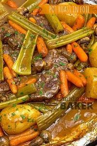 Pot roast and veggies cook in the  - 275 Beef Recipes - RecipePin.com