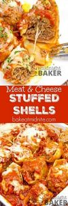 Stuffed shells with savory ground  - 275 Beef Recipes - RecipePin.com