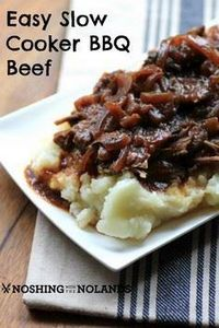 Easy Slow Cooker BBQ Beef | Noshin - 275 Beef Recipes - RecipePin.com