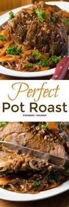 Perfect Pot Roast by Noshing With  - 275 Beef Recipes - RecipePin.com