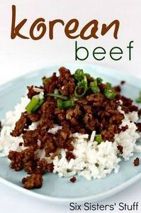 Korean Beef and Rice Recipe on Six - 275 Beef Recipes - RecipePin.com