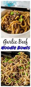 Garlic Beef Noodle Bowls – an Asia - 275 Beef Recipes - RecipePin.com