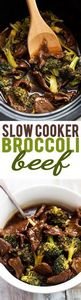 Super easy Slow Cooker Broccoli Be - 275 Beef Recipes - RecipePin.com