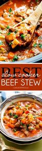 Slow Cooker Beef Stew - this is th - 275 Beef Recipes - RecipePin.com