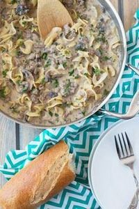 One Pot Hamburger Stroganoff is a  - 275 Beef Recipes - RecipePin.com