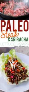 Steak and Sriracha Lettuce Wraps-  - 275 Beef Recipes - RecipePin.com