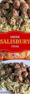 Greek Salisbury Steak Meatballs wi - 275 Beef Recipes - RecipePin.com