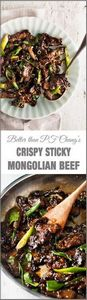 Crispy Sticky Mongolian Beef - PF  - 275 Beef Recipes - RecipePin.com