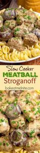 Slow Cooker Meatball Stroganoff - 275 Beef Recipes - RecipePin.com