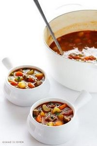 Vegetable Beef Soup | gimmesomeove - 275 Beef Recipes - RecipePin.com