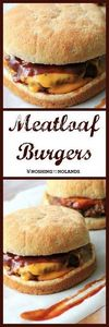 MWM - Meatloaf Burgers by Noshing  - 275 Beef Recipes - RecipePin.com