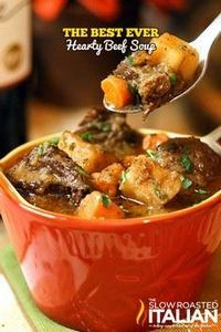 Hearty Beef Soup #comfortfood #rec - 275 Beef Recipes - RecipePin.com