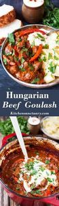 Hungarian Beef Goulash - a thick a - 275 Beef Recipes - RecipePin.com