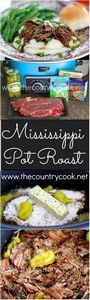Crock Pot Mississippi Pot Roast re - 275 Beef Recipes - RecipePin.com