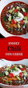 Smoky Beef Chili Con Carne-Creole  - 275 Beef Recipes - RecipePin.com