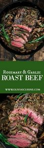 Rosemary and Garlic Roast Beef | w - 275 Beef Recipes - RecipePin.com